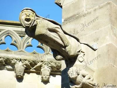 Gárgola de la Basílica de St. Nazaire et Celse en Carcassonne (Francia)