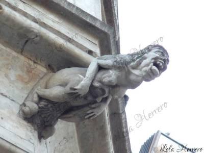 Gárgola del Ayuntamiento de Bruselas (Bélgica)