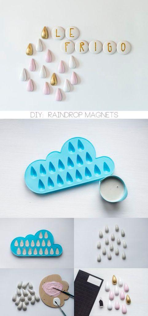Regentropfen Magnete DIY kleinformat