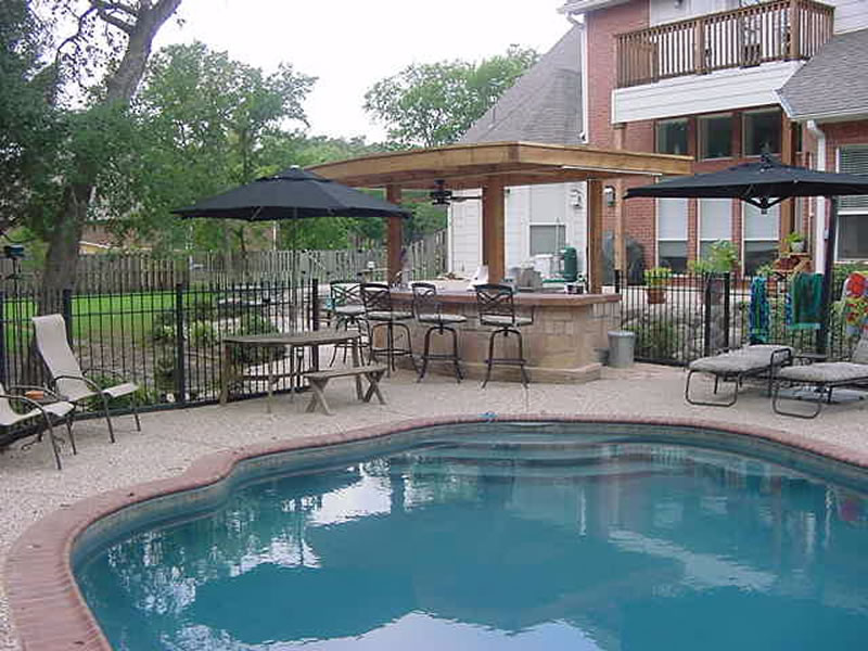 Landscape Design | Frisco Plano Dallas | Outdoor ... on Outdoor Kitchen By Pool id=17446