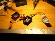 The finished circuit with optocoupler and casing