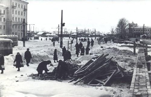 НАЧАЛО СТРОИТЕЛЬСТВА СТАДИОНА ЛОКОМОТИВ 50е годы