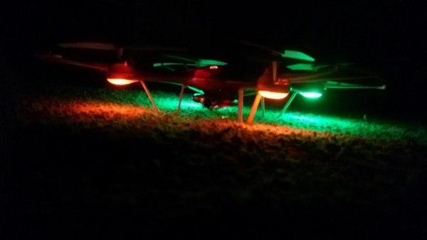 Светящийся квадрокоптер