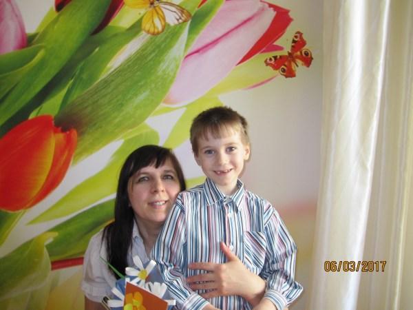 Мы с Егором после утренника
