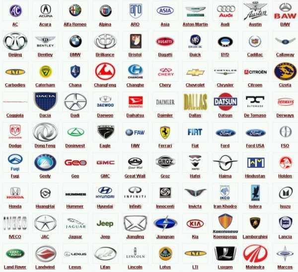 Все марки машин и их значки с названиями и фото – Значки и ...