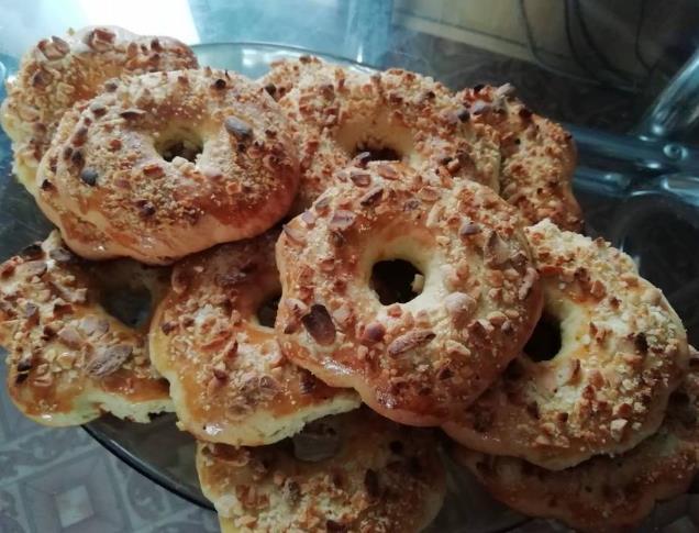 Песочное печенье с арахисом фото
