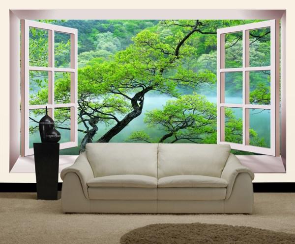 Обои 3Д для стен: фото идеи дизайна интерьера в квартире ...