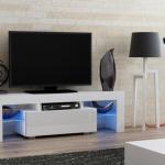 Milano 130 White Small Tv Stand Tv Cabinet Tv Unit Ebay