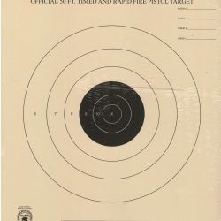 B-3 - 50 Foot Timed and Rapid Fire Pistol Target Official NRA Target
