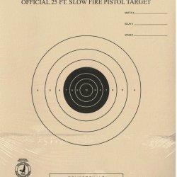 TQ-6 - 25 Foot Slow Fire Pistol Target Official NRA Target