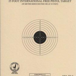 TQ-9 - 25 Foot International Free Pistol Target Official NRA Target (Pack of 100)