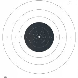 B-6 - 50 Yard Slow Fire Pistol Target Official NRA Target (Pack of 100)