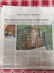 Article du Ouest-France du 31/07/2019 par Jean-François Vallée