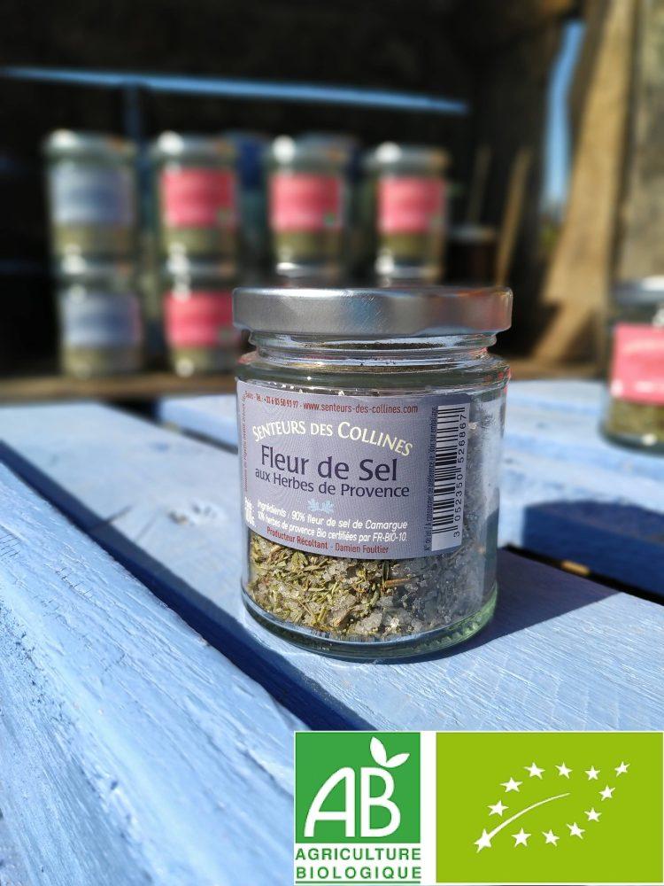 Pot de fleur de Sel aux herbes de provence bio