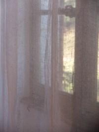 Transparent linen curtains