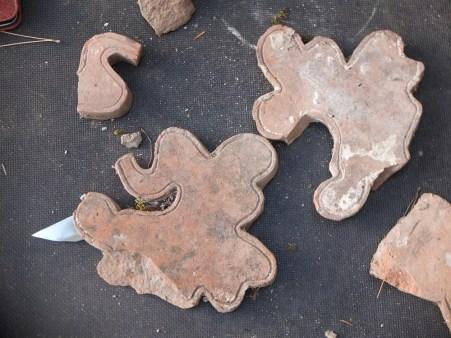 Antefixe pieces chapel