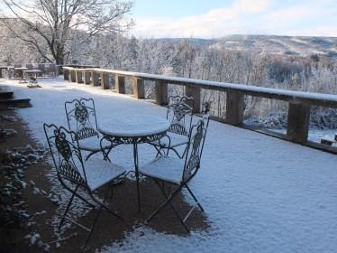 French Garden Set on Terrace