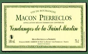 Vendanges de la Saint-Martin Domaine Marc JAMBON et Fils