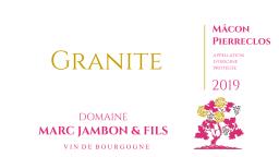 """Mâcon-Pierreclos Rosé """"Granite"""" 2019 - Domaine Marc JAMBON & Fils à PIERRECLOS"""