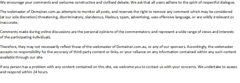 Disclaimer Domainer
