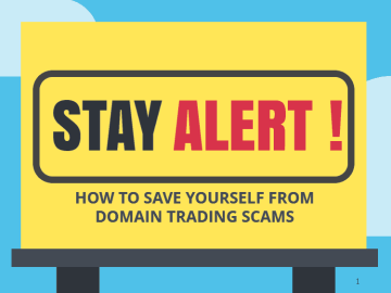 Save yourself from domain name scams