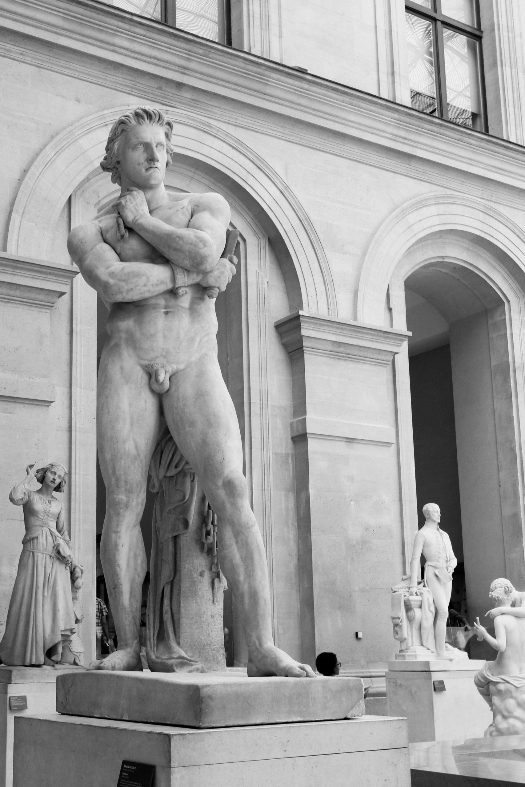 Spartacus, marble sculpture of Denis Foyatier (1830), Louvre Museum