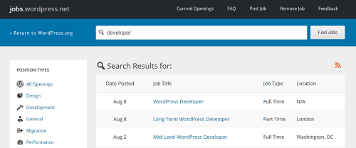 WordPress Developer - WordPress Jobs