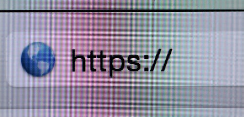 Browser image with domain name starting with https