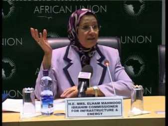 Mrs Elham Mahmood Ibrahim, Commissioner for Infrastructure and Energy Photo Credit: Article. wn.com
