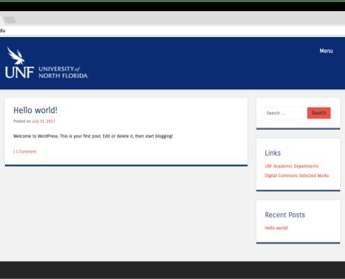 UNF Faculty Theme Screenshot