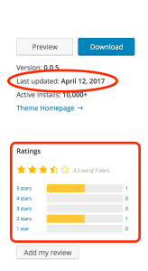 ratings and last updated