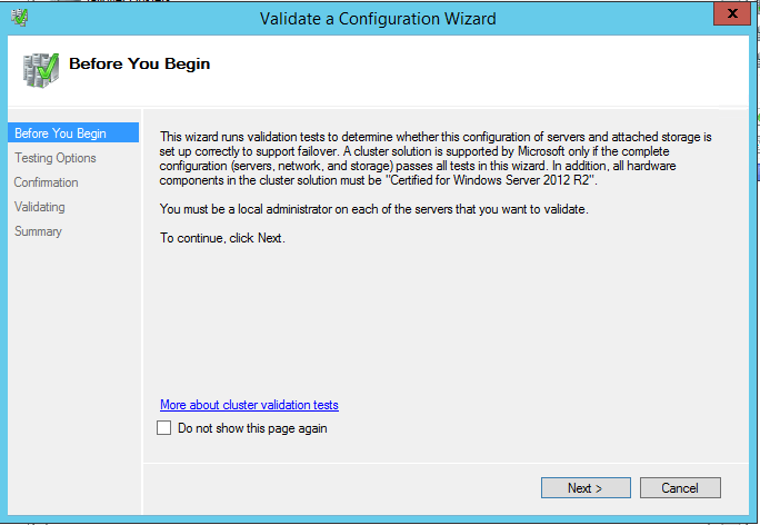 domalab.com install clustered SQL validate configuration