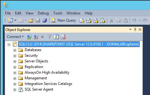 domalab.com SQL first node running instance