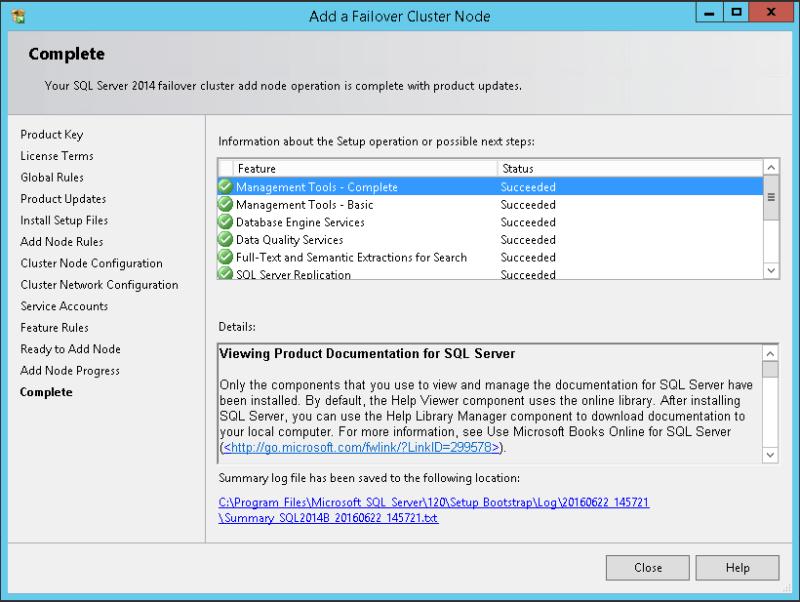 domalab.com SQL second node complete