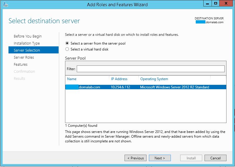 domalab.com Exchange 2016 Backup server selection