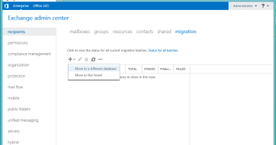 Exchange 2016 Move Mailbox