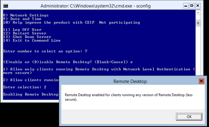 domalab.com Hyper-V nested install RDP enable