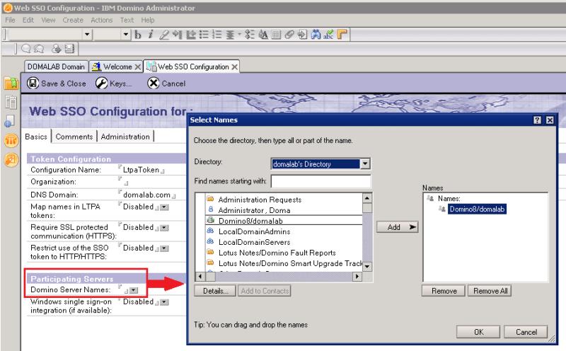 domalab.com Quickr Domino Web SSO