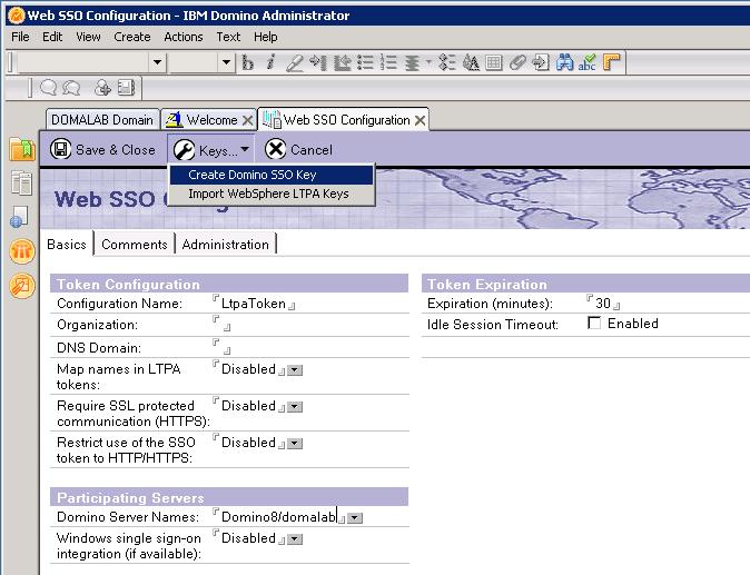 domalab.com Quickr Domino SSO Key
