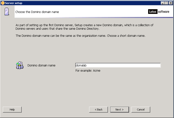 domalab.com configure Domino domain name