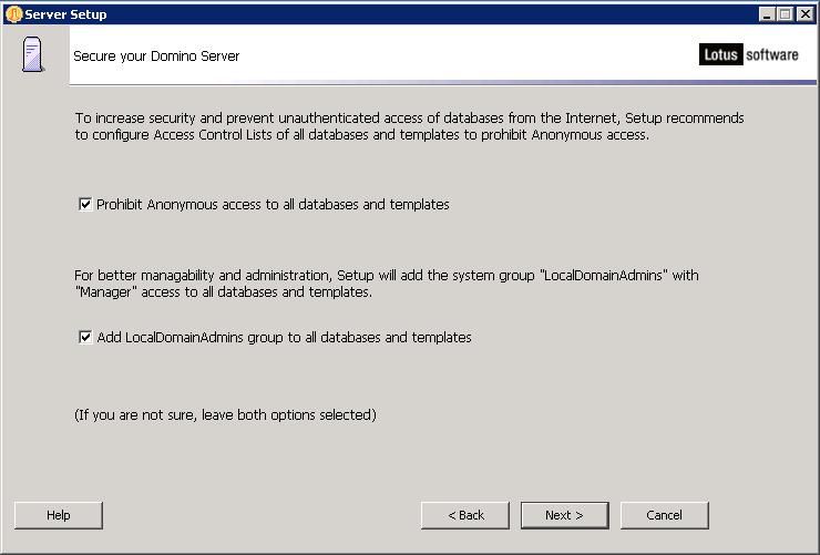 domalab.com configure Domino anonymous access