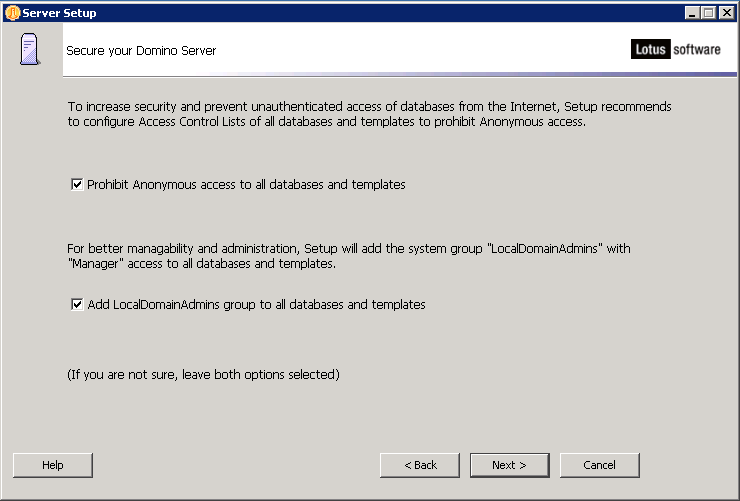 domalab.com configure Domino anonymous access