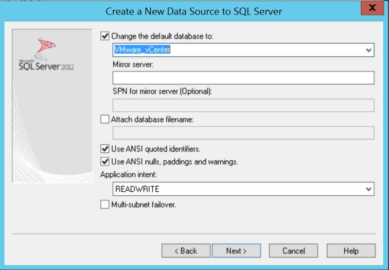 domalab.com VMware vCenter Deploy database default