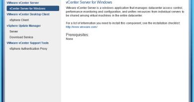 vCenter install