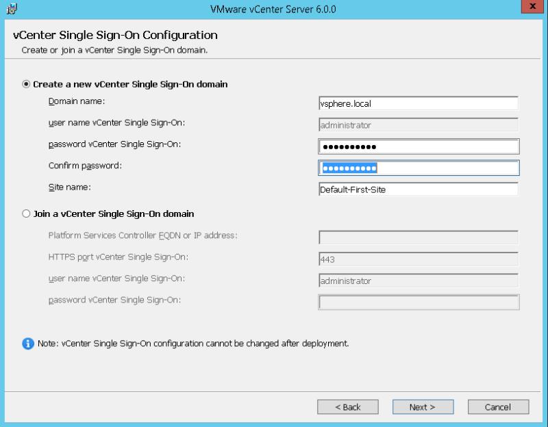 domalab.com VMware vCenter Deploy SSO