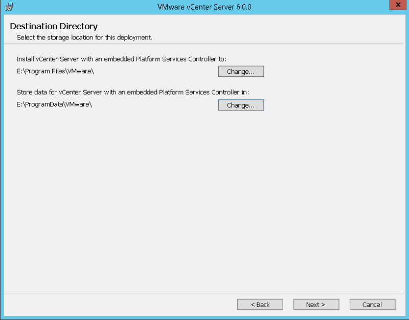 domalab.com VMware vCenter Deploy destination directory