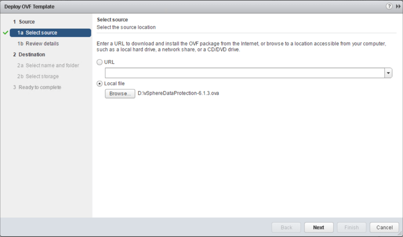 domalab.com VMware VDP install deploy ovf