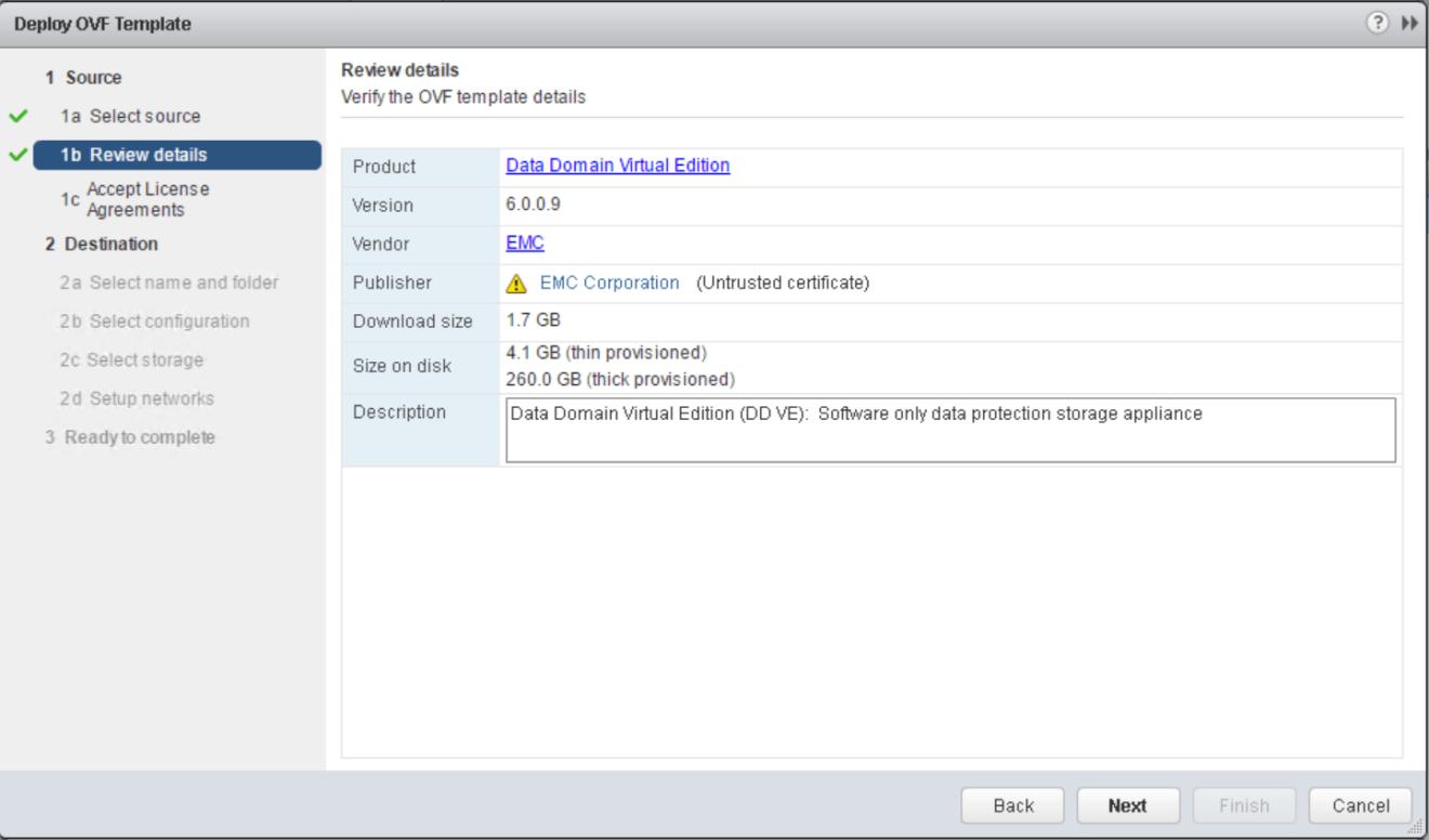 domalab.com Data Domain virtual edition ovf details