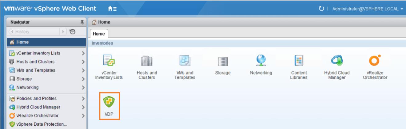 domalab.com VMware VDP configuration vCenter