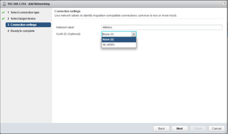 domalab.com vSphere Standard Switches connection settings